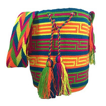 Wayuu Mochila Bag 100% Colombian Ethnic Hand Woven Lar W70