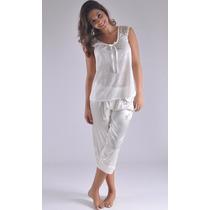 Pijama Capry Satin Blusa Encaje Muy Femenina Modelo S7043