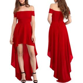 Vestido Longo Mullet Festa Elegante