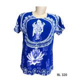 Baby Look Camiseta Feminina Indiana Hippie Ganesha Lótus