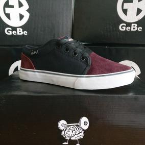 Zapatillas Gebe Tango Negro-bordo - Skate Tipo Vans