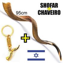 Shofar De Antílope Israelense Extra Grande 95cm + Chaveiro