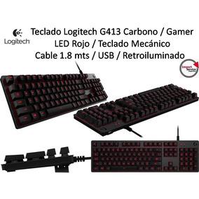 Teclado Logitech G413 Carbono Gamer Led Rojo Retroiluminado