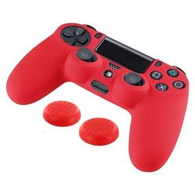 Protector Caja Playstation 4 Ps4 Controller Rojo + Silicona