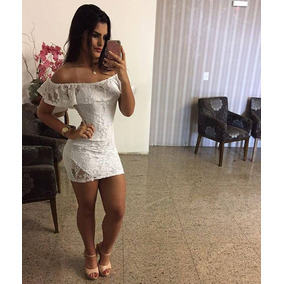 Vestido Cigana Lola Bella - Rendado - C/bojo - Branco