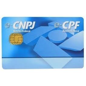 Cartão Smart Card Token Certificado Digital Cpf Ou Cnpj