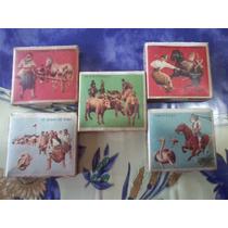 Antiguas Cajas De Fosforos Victoria Motivo Gauchesco Lot.x 5