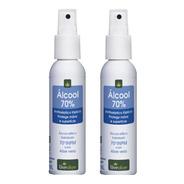 Alcool Gel 70 Hidratante Aloe Vera Embalagem Bolso Kit Com 2