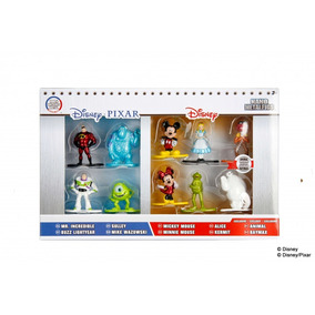 10 Figuras Disney - Pixar Metalicas Mickey Minnie Coleccion