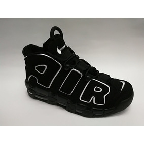 Botas Nike More Uptempo Negra Blanca Hombre Env Gra