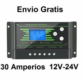 Controlador De Carga Solar 30 Amperios 12/24 Volt