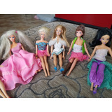 Barbies Princesas Ariel Bella Cenicienta Jazmín Blancanieves