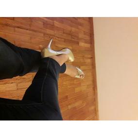 Zapatos De Cuero Dorados. Nuevos! Ideal Novias.