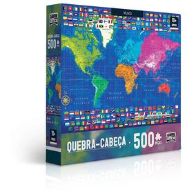 Quebra-cabeça 500 Peças - Mapas - Mundo