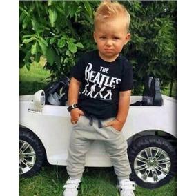 Conjunto Calça Camiseta Beatles Rock Roupa Criança Bebe