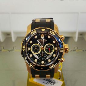 Relógio Invicta Pro Diver 6981 Original B. Ouro 18k Crono