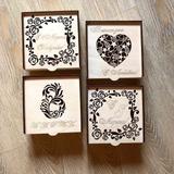 Vectores De Cajas Con 4 Diseños De Tapa.