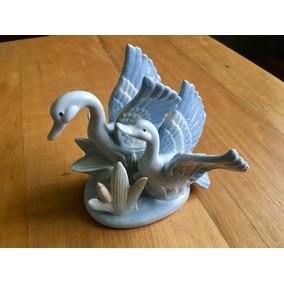 Decoración Cisnes De Porcelana
