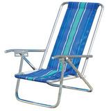 02 Cadeira Aluminio + Guarda Sol+ Carrinho+ Caixa Termica