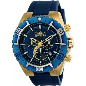 Invicta Hombre 22525 Aviator Reloj Acero Inoxidable Azul