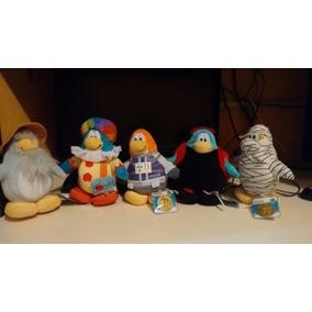 Set 5 Peluches Club Penguin Nuevos Y Originales Con Moneda