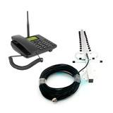 Celular Rural 2 Chip + Antena Quadriband Gsm Todas Operadora