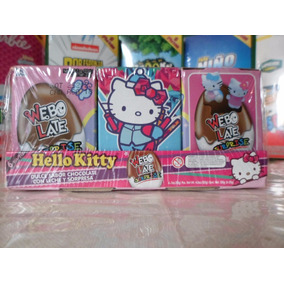 Huevo Sorpresa Tipo Kinder Hello Kitty 6pz Chocolate