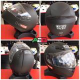 Promo Casco Integral Moto Agv K3 Negro Mate Entrega Ya