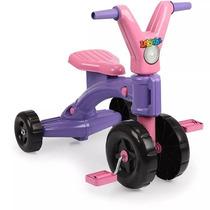Triciclo Velocipede P Menina Lekinha Criança Lilas E Rosa