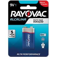 01 Pilha Bateria 9v Alcalina Rayovac