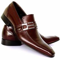 Sapato Social Masculino Verniz Lançamento Executivo Moderno