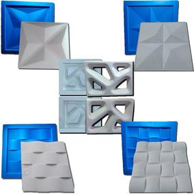 5 Formas De Plástico C/borracha Gesso 3d Lanç. Digitalartrio