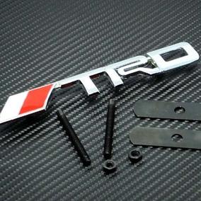 Carreras 3d Trd Grill Parrilla Emblema Rojo Y Plata
