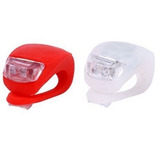 Luz Bicicleta Led Roja Y Blanca Siliconada Unidad C/pilas