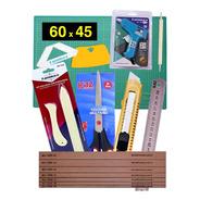 Base Corte A2 60x45 Vincador Dobradeira Régua 30 Encad  Kit2