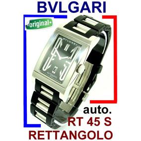 Bvlgari Rettangolo Rt 45 S Automático Original E Revisado!