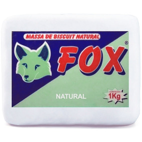 Massa De Biscuit Fox Natural 1kg Lembrancinha Vidros Bolo
