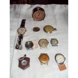 Antiguo Reloj De Bolsillo Despertador Brujula Puls Lote X10