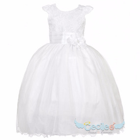 Vestido Elegante Hermoso Ceremonia Niña Ángel