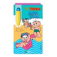 Livro Aquabook Turma Da Mônica Colorir Com Água Capa Dura