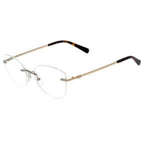 b73af14fe9445 0armani Exchange Ax 1028 - Óculos De Grau 6044 Prata Brilho
