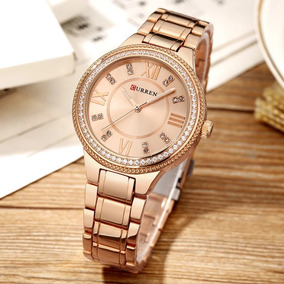 Relógio Curren Feminino De Luxo, Brilhante.