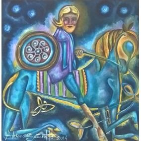 Pintura Celta Lenda Irlandesa Oisín