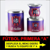 Set Matero Futbol Primera A Afa Mate Yerbera Azucarera 3g