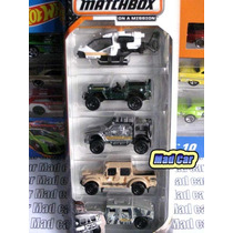 Mc Mad Car Matchbox Pack Hummer Jeep Militar Auto Mbx 1/64