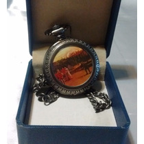 Reloj Bolsillo, Con Estuche Original, Funciona, Baño Plata.