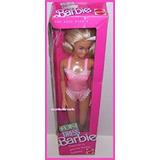 Juguete 1989 Diversión De Vestir Rubia Muñeca Barbie En Ros