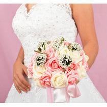 Ramo Para Novia O Xv Años - Incrustaciones Bouquet Con Rosas