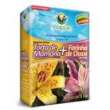 Kit 2 Caixas De Torta De Mamona + Farinha De Osso 1 Kg