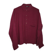 Camisa Manga Larga Bordo Talle M Anchita